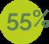 55%-verde